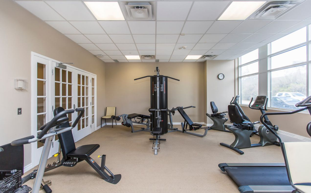 Full range of fitness equipment at 100 Isabella apartments