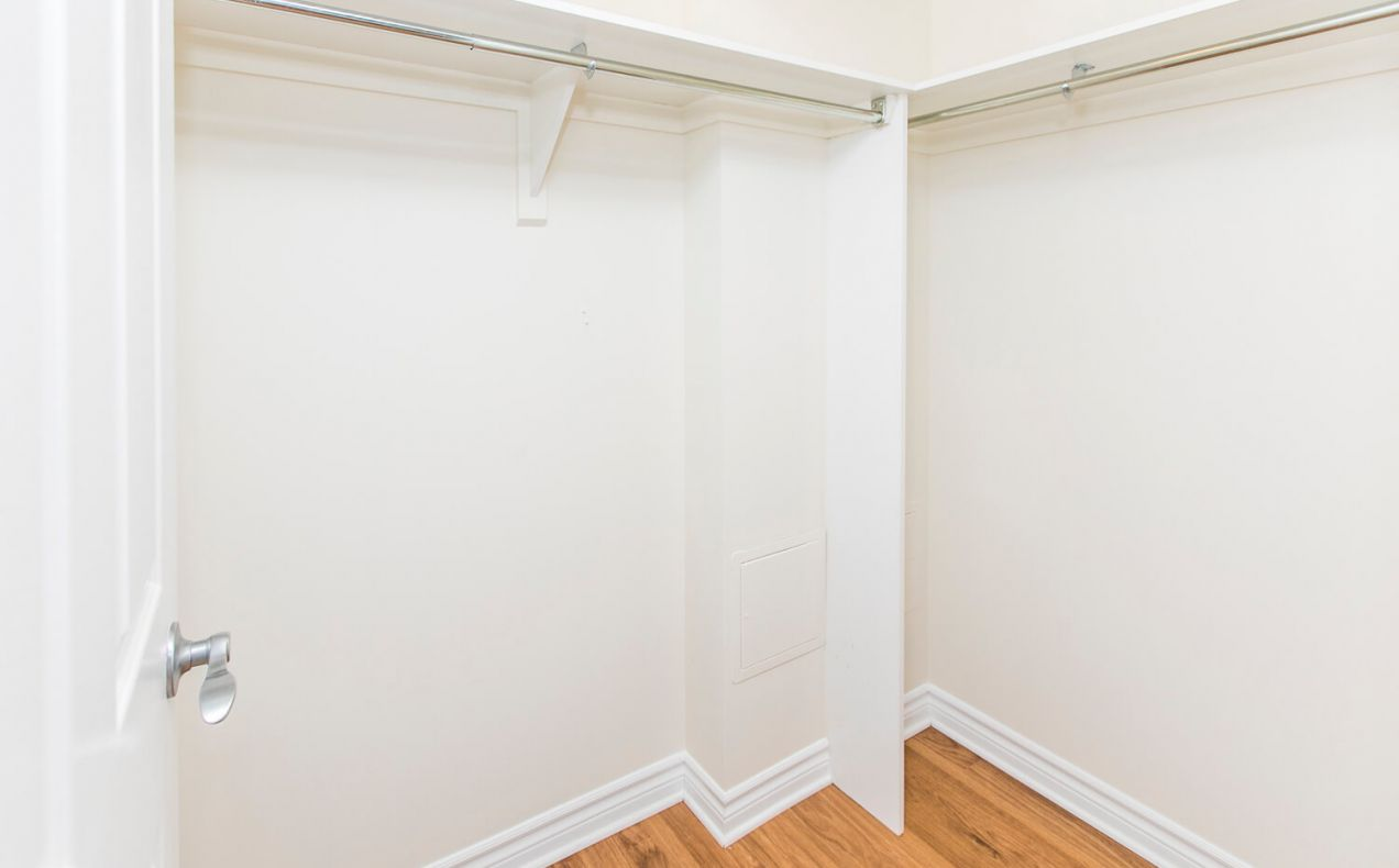 Spacious walk-in closet from master bedroom